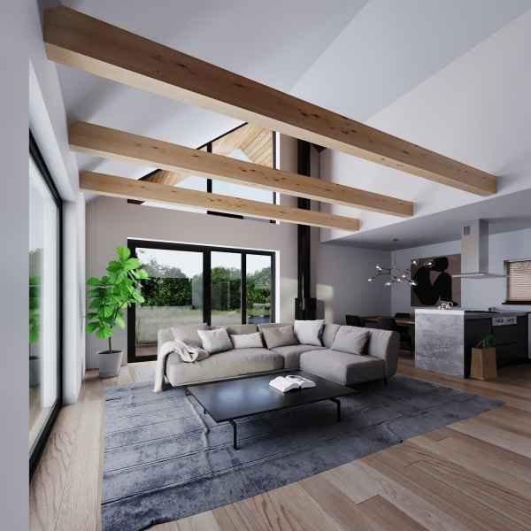 Dom energooszczędny pod klucz w technologii Steico można wybudować w ciągu zaledwie 4 miesięcy.